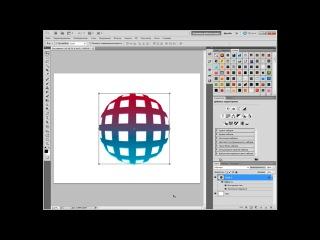 Как нарисовать 3D сферу в фотошопе